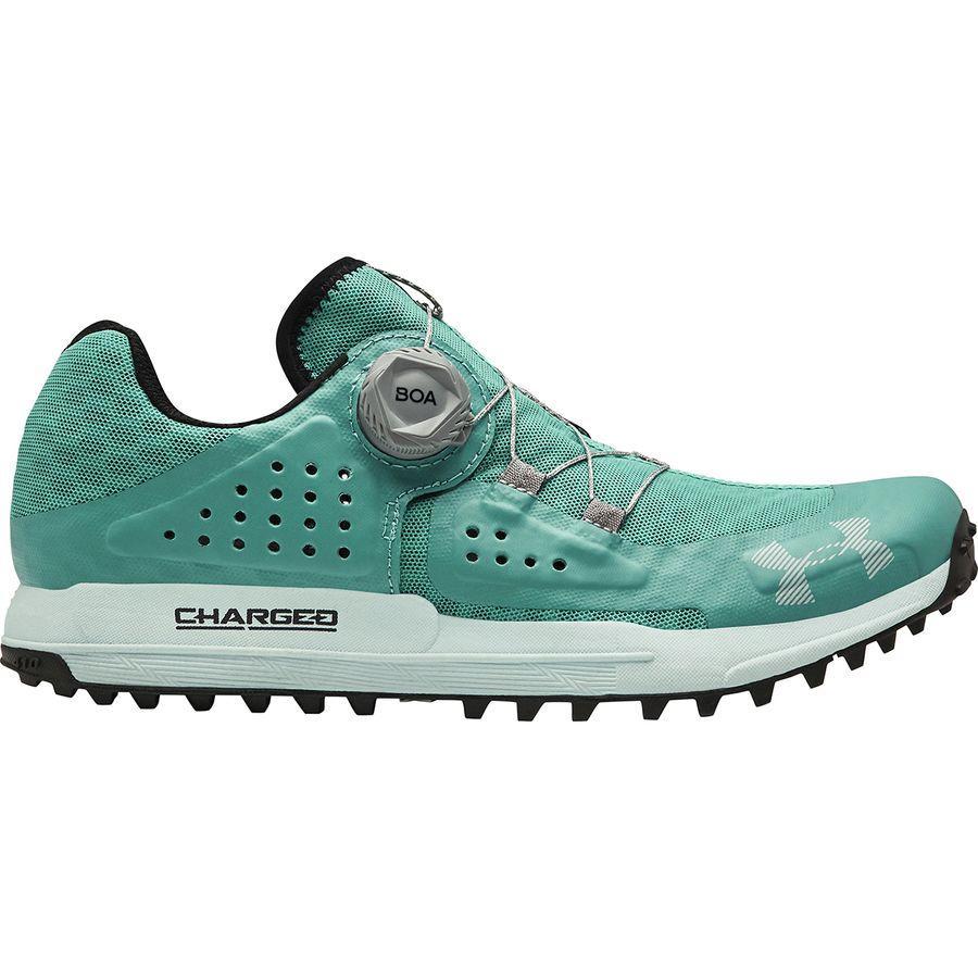 (取寄)アンダーアーマー レディース シンクライン トレイル ランニングシューズ Under Armour Women Syncline Trail Running Shoe Azure Teal/Fuse Teal/Mod Gray