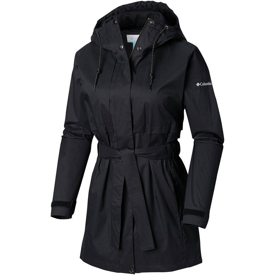 (取寄)コロンビア レディース パードン マイ トレンチ レイン ジャケット Columbia Women Pardon My Rain Jacket Trench Black