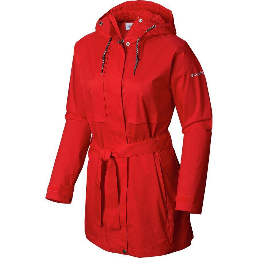 (取寄)コロンビア レディース パードン マイ トレンチ レイン ジャケット Columbia Women Pardon My Rain Jacket Trench Cherrybomb
