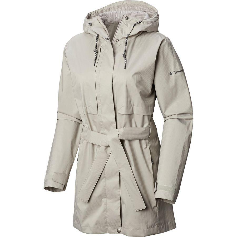 (取寄)コロンビア レディース パードン マイ トレンチ レイン ジャケット Columbia Women Pardon My Rain Jacket Trench Flint Grey