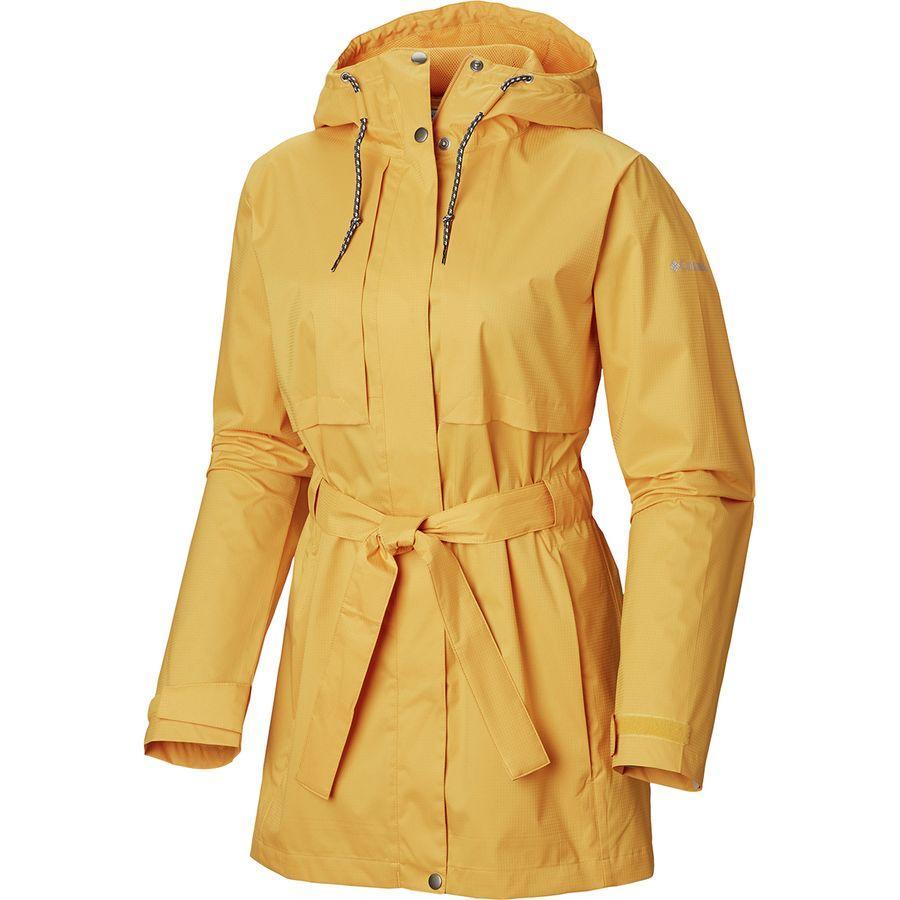 (取寄)コロンビア レディース パードン マイ トレンチ レイン ジャケット Columbia Women Pardon My Rain Jacket Trench Raw Honey