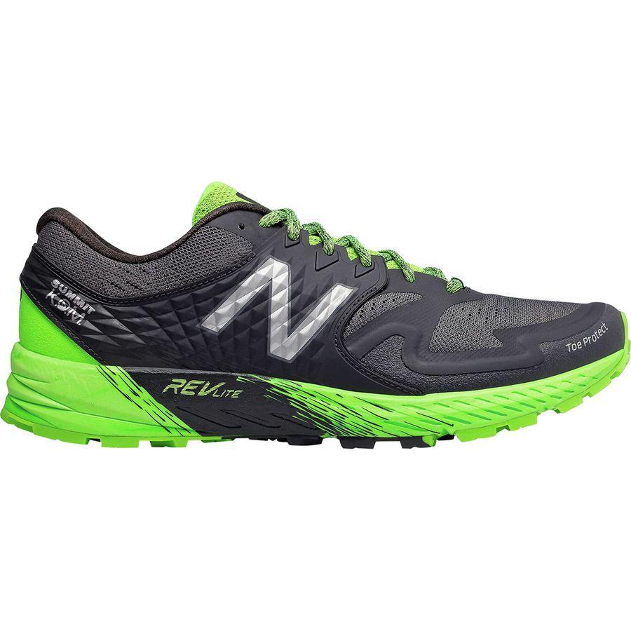 (取寄)ニューバランス メンズ サミット K.O.M. トレイル ランニングシューズ New Balance Men's Summit K.O.M. Trail Running Shoe Phantom/RGB Green/Silver Metallic