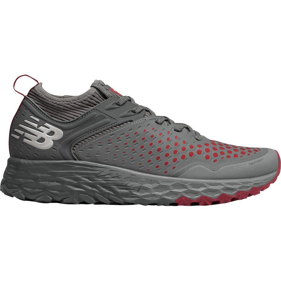 (取寄)ニューバランス メンズ フレッシュ フォーム イエロ v4トレイル ランニングシューズ New Balance Men's Fresh Foam Hierro v4 Trail Running Shoe Lead/Scarlet/Orca