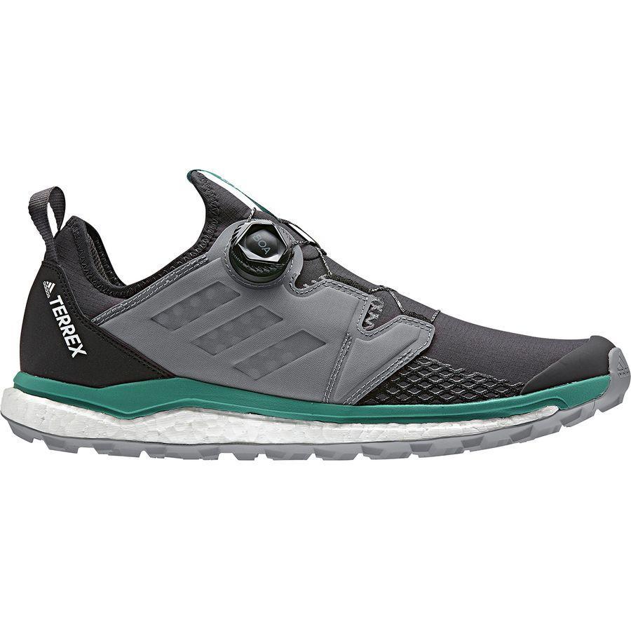 (取寄)アディダス メンズ アウトドア テレックス アグラヴィック ボア トレイル ランニングシューズ Adidas Men's Outdoor Terrex Agravic Boa Trail Running Shoe Carbon/Grey Three/Active Green