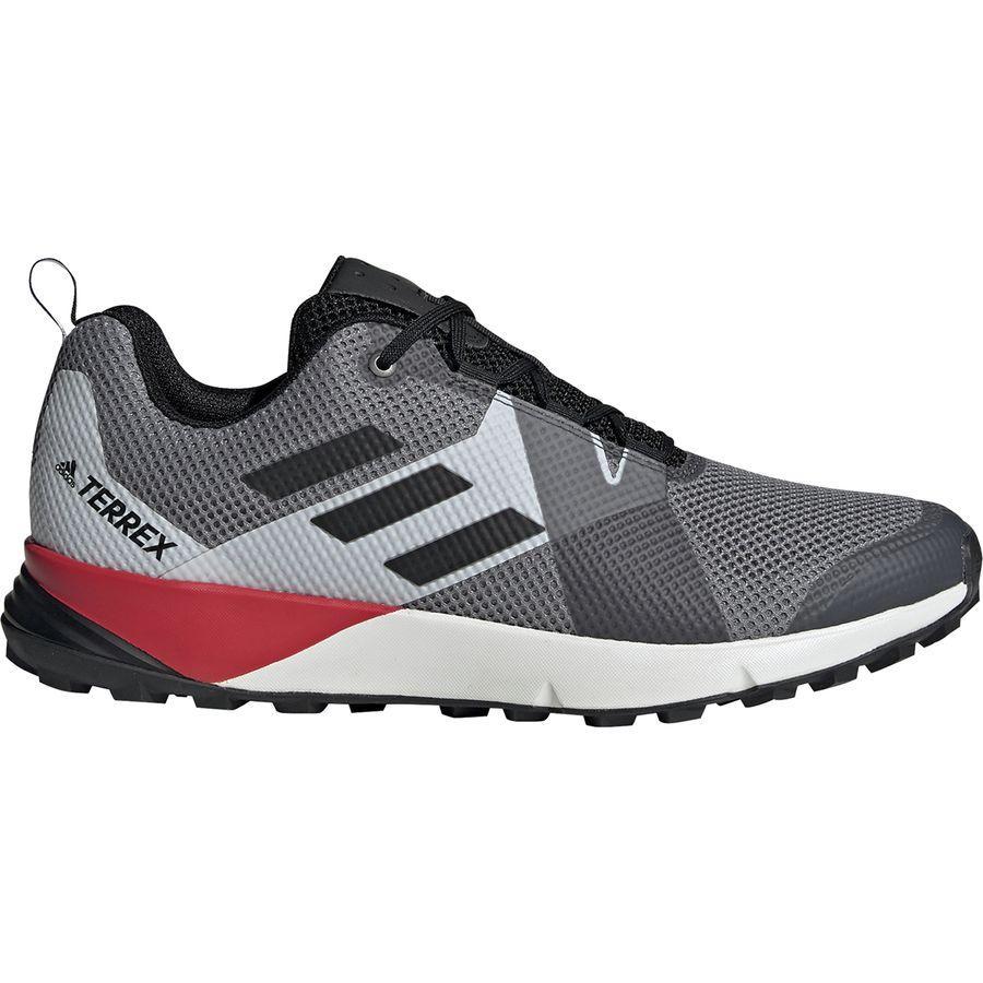 (取寄)アディダス メンズ アウトドア テレックス ツー トレイル ランニングシューズ Adidas Men's Outdoor Terrex Two Trail Running Shoe Grey Three/Black/Active Red