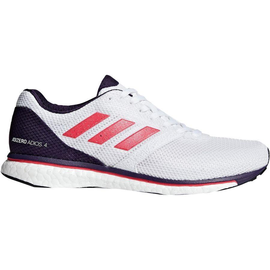 (取寄)アディダス レディース アディゼロ アディオス 4ブースト ランニングシューズ Adidas Women Adizero Adios 4 Boost Running Shoe Footwear White/Shock Red/Legend Purple