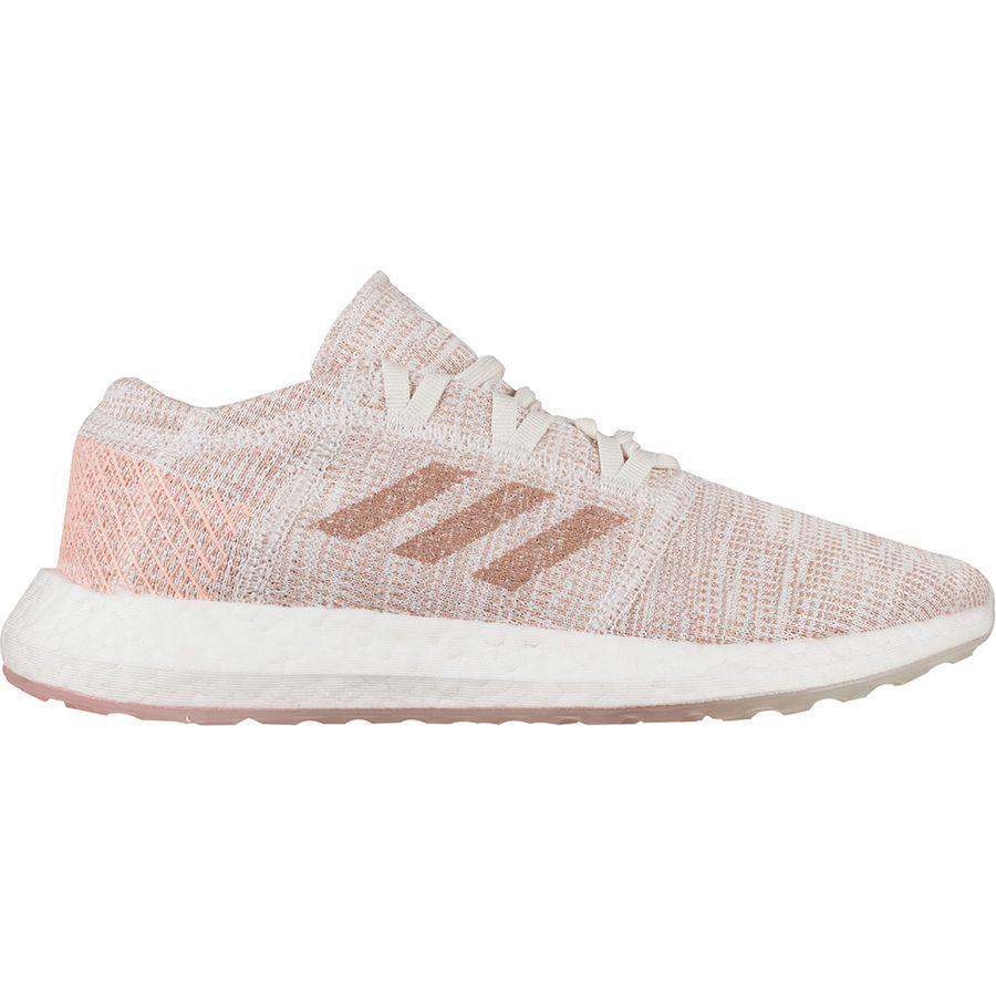 (取寄)アディダス レディース ピュアブースト ゴー ランニングシューズ Adidas Women Pureboost Go Running Shoe Cloud White/Ash Pearl S18/Cloud White