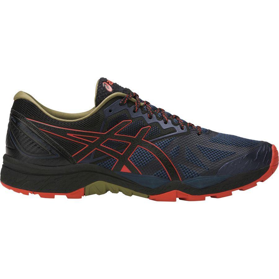 (取寄)アシックス メンズ Gel-Fujitrabuco6トレイル ランニングシューズ Asics Men's Gel-Fujitrabuco 6 Trail Running Shoe Insignia Blue/Black/Red Clay