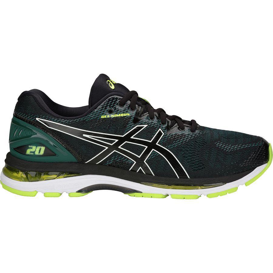 (取寄)アシックス メンズ Gel-Nimbus20 ランニングシューズ Asics Men's Gel-Nimbus 20 Running Shoe Black/Neon Lime
