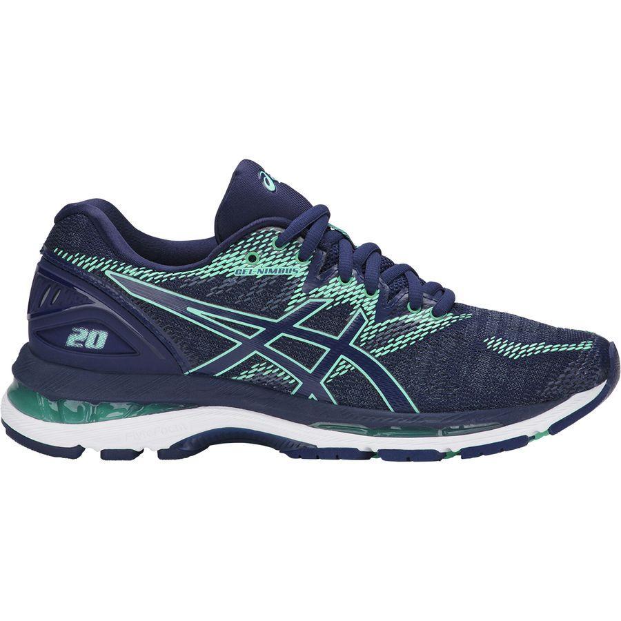 (取寄)アシックス レディース Gel-Nimbus20 ランニングシューズ Asics Women Gel-Nimbus 20 Running Shoe Indigo Blue/Indigo Blue/Opal Green