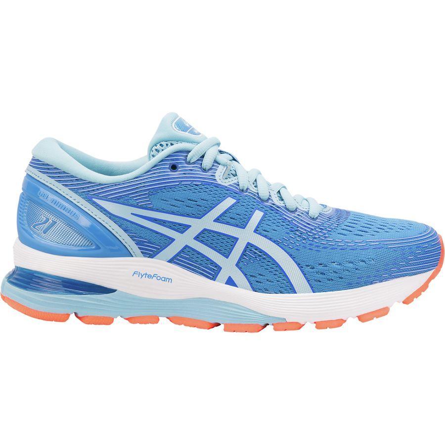 (取寄)アシックス レディース Gel-Nimbus21 ランニングシューズ Asics Women Gel-Nimbus 21 Running Shoe Blue Coast/Skylight