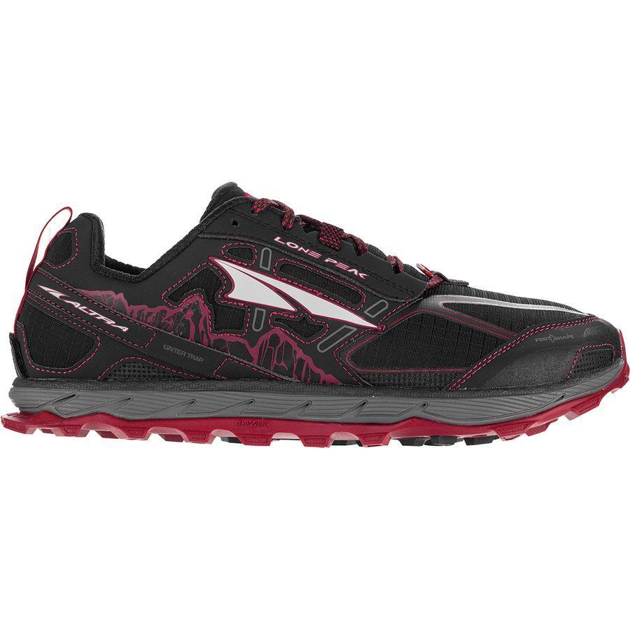 (取寄)アルトラ メンズ ローン ピーク 4.0トレイル ランニングシューズ Altra Men's Lone Peak 4.0 Trail Running Shoe Black/Red
