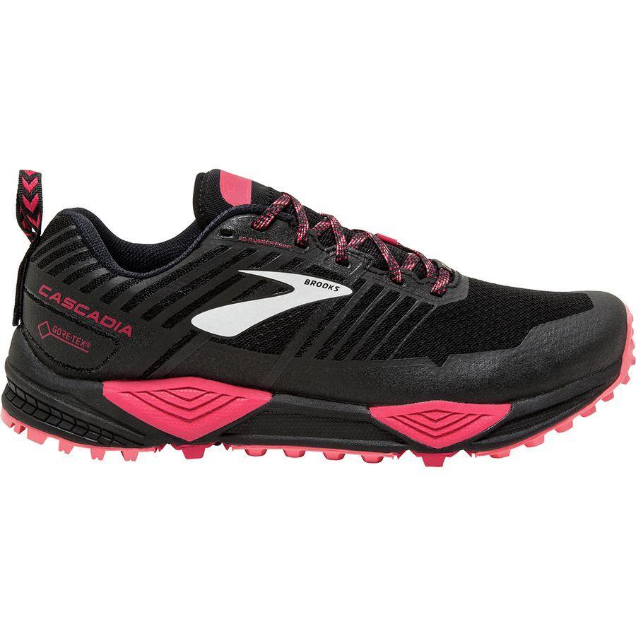(取寄)ブルックス レディース カスケディア 13Gtx トレイル ランニングシューズ Brooks Women Cascadia 13 GTX Trail Running Shoe Black/Pink/Coral