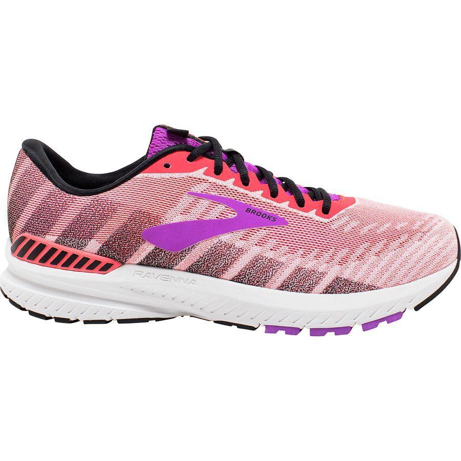 (取寄)ブルックス レディース ラヴェンナ 10 ランニングシューズ Brooks Women Ravenna 10 Running Shoe Coral/Purple/Black