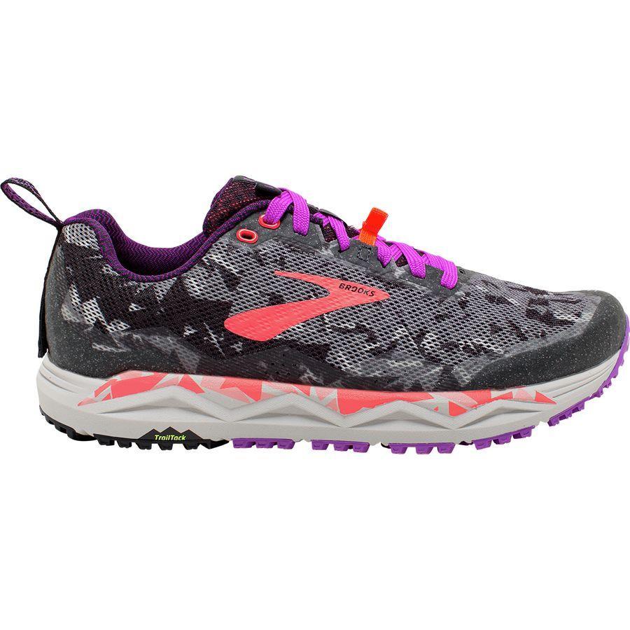 (取寄)ブルックス レディース カルデラ 3トレイル ランニングシューズ Brooks Women Caldera 3 Trail Running Shoe Black/Purple/Coral