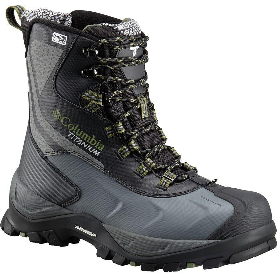 (取寄)コロンビア メンズ パウダーハウス Titanium オムニヒート 3D アウトドライ ウィンター ブーツ Columbia Men's Powderhouse Titanium Omni-Heat 3D Outdry Winter Boot Black/Mosstone
