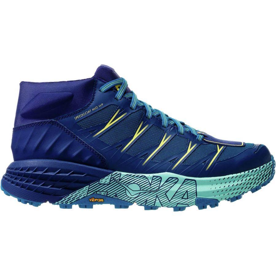 (取寄)ホカ オネ オネ レディース スピードゴート ミッド WP トレイル ラン シューズ HOKA ONE ONE Women Speedgoat Mid WP Trail Run Shoe Seaport/Medieval Blue