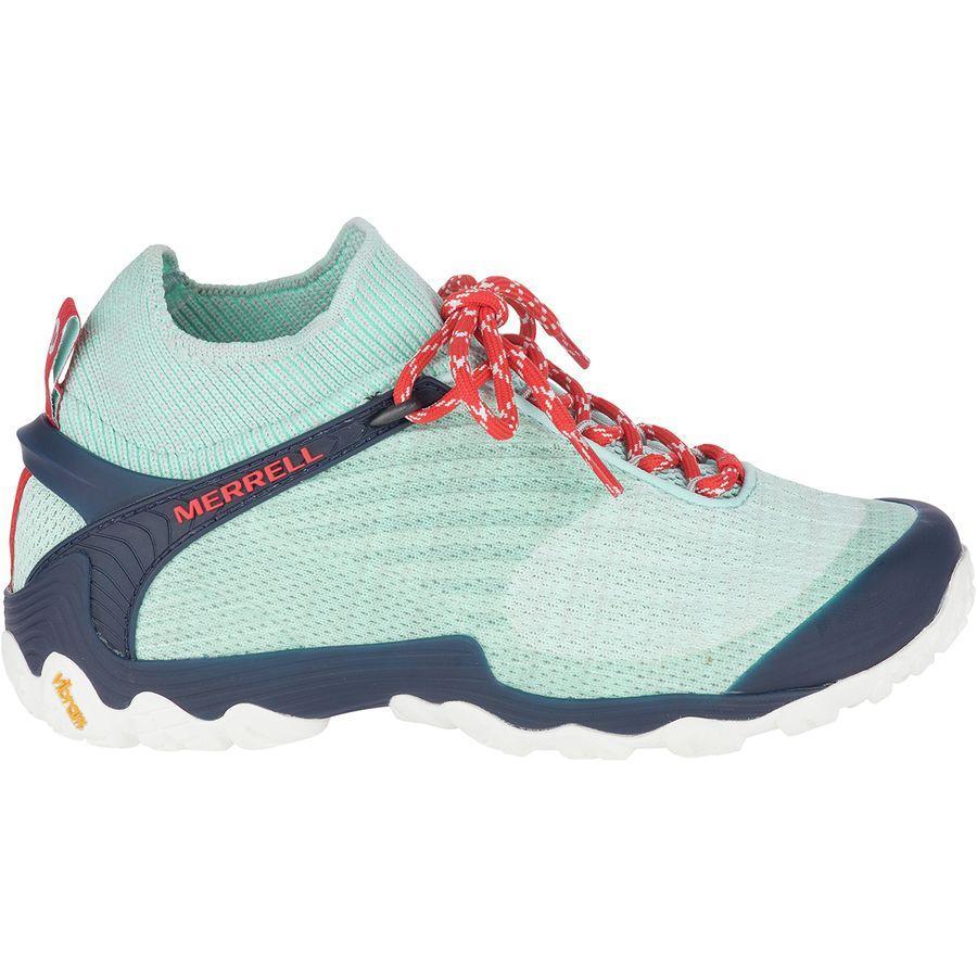 (取寄)メレル レディース カメレオン 7ニット ミッド ハイキング ブーツ Merrell Women Chameleon 7 Knit Mid Hiking Boot Bleached Aqua