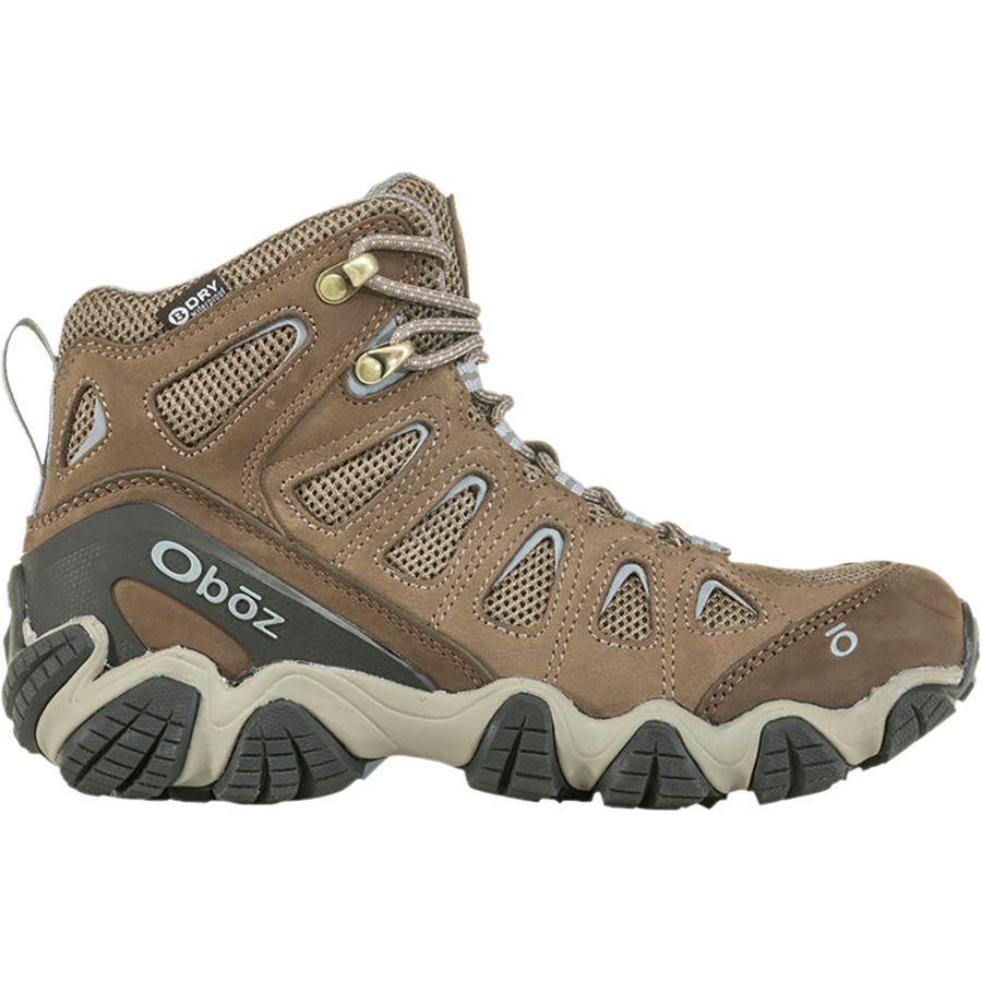 (取寄)オボズ レディース ソートゥース 2 ミッド B-Dry ハイキング ブーツ Oboz Women Sawtooth II Mid B-Dry Hiking Boot Brindle/Tradewinds Blue