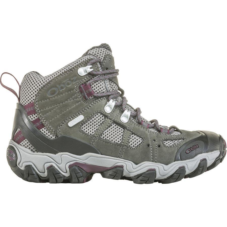 (取寄)オボズ レディース ブリッガー ミッド ベント ハイキング ブーツ Oboz Women Bridger Mid Vent Hiking Boot Frost Gray/Beet