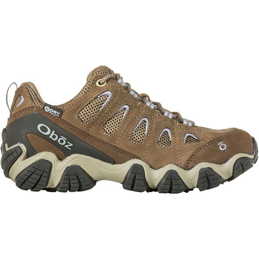 (取寄)オボズ レディース ソートゥース 2 ロウ B-Dryワイド ハイキング ブーツ Oboz Women Sawtooth II Low B-Dry Wide Hiking Boot Brindle/Tradewinds Blue
