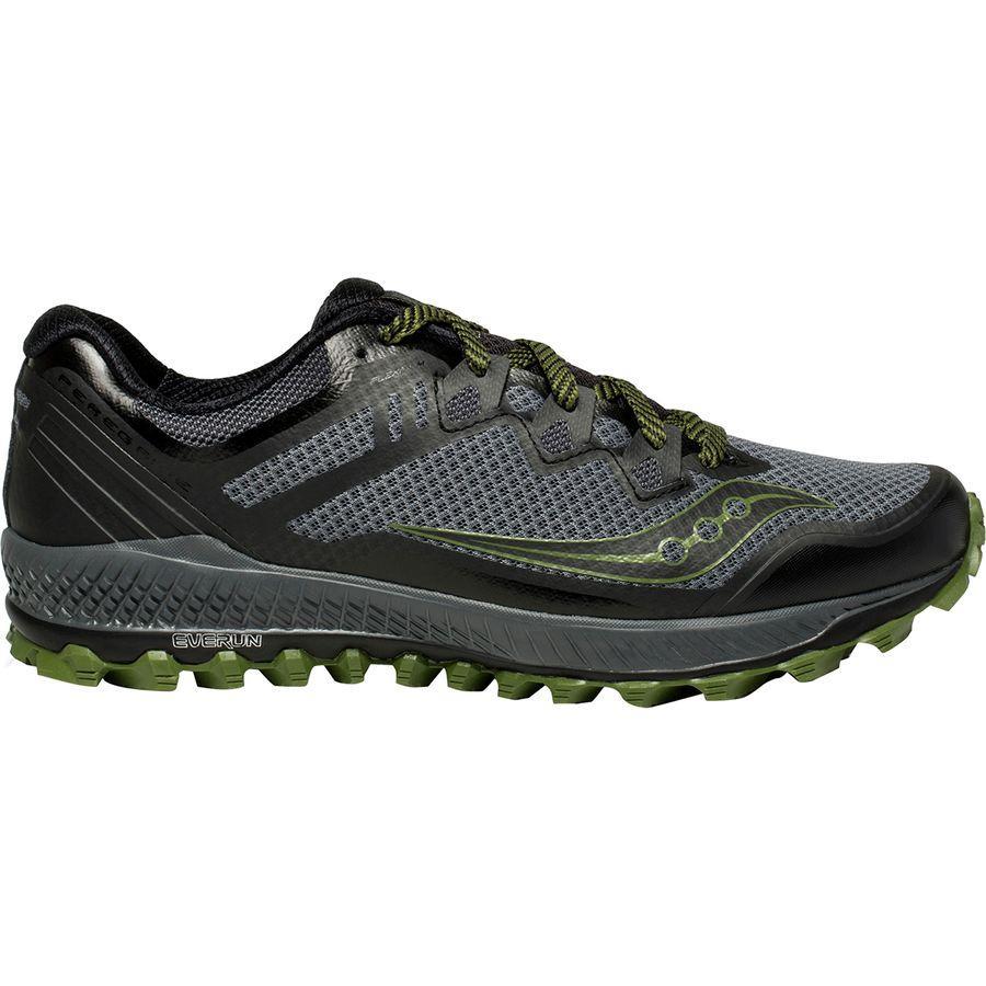 (取寄)サッカニー メンズ ペレグリン 8トレイル ランニングシューズ Saucony Men's Peregrine 8 Trail Running Shoe Grey/Black/Green