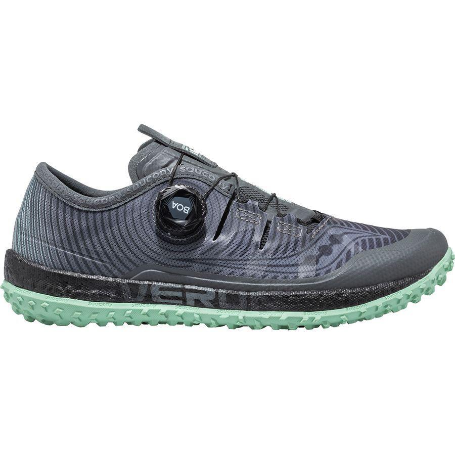 (取寄)サッカニー レディース スイッチバッグ Iso トレイル ランニングシューズ Saucony Women Switchback Iso Trail Running Shoe Grey/Mint