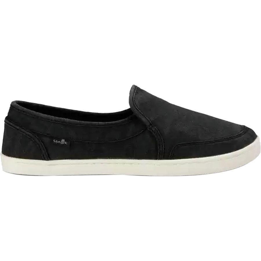 (取寄)サヌーク レディース ペア O ダイス シューズ Sanuk Women Pair O Dice Shoe Washed Black