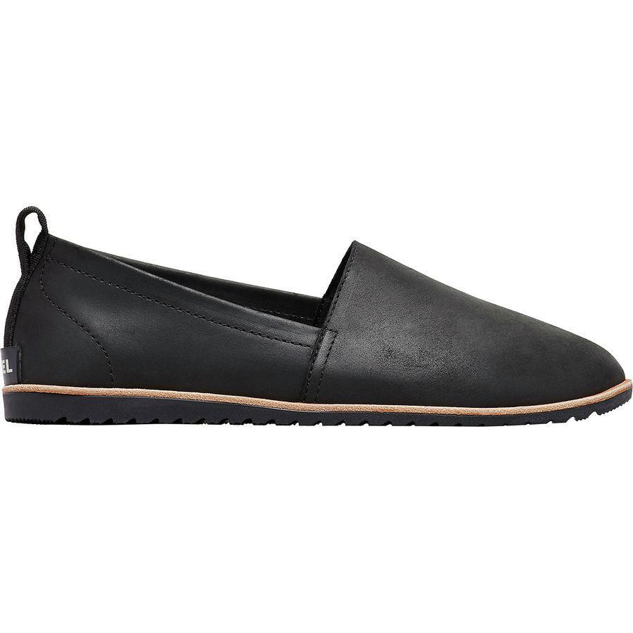 (取寄)ソレル レディース エラ スリップ オン シューズ Sorel Women Ella Slip On Shoe Black