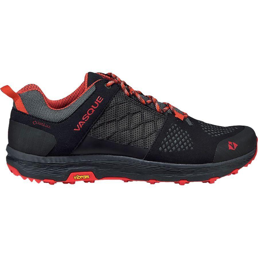 (取寄)バスク メンズ ブリーズ LT ロウ Gtx ハイキングシューズ Vasque Men's Breeze LT Low GTX Hiking Shoe Anthracite/Red Clay
