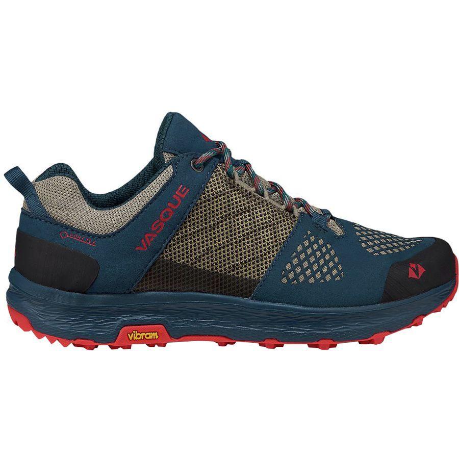 (取寄)バスク レディース ブリーズ LT ロウ Gtx ハイキングシューズ Vasque Women Breeze LT Low GTX Hiking Shoe Majolica Blue/Red Clay