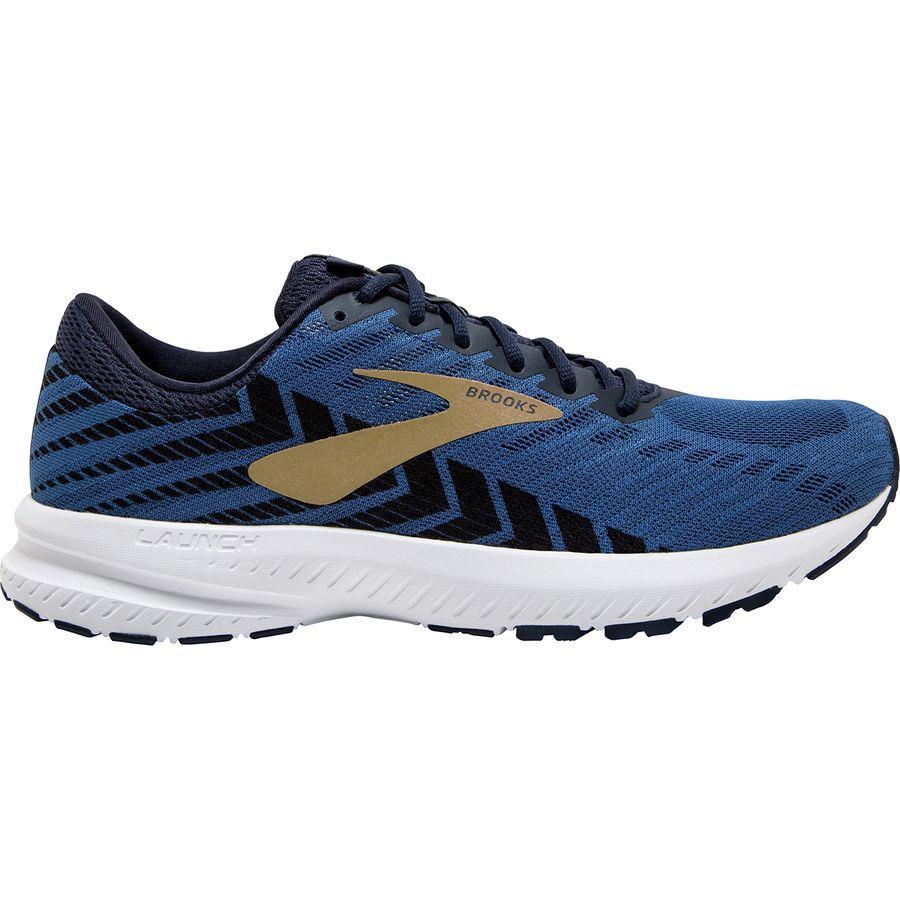 (取寄)ブルックス メンズ ローンチ 6 ランニングシューズ Brooks Men's Launch 6 Running Shoe Peacoat/Blue/Gold
