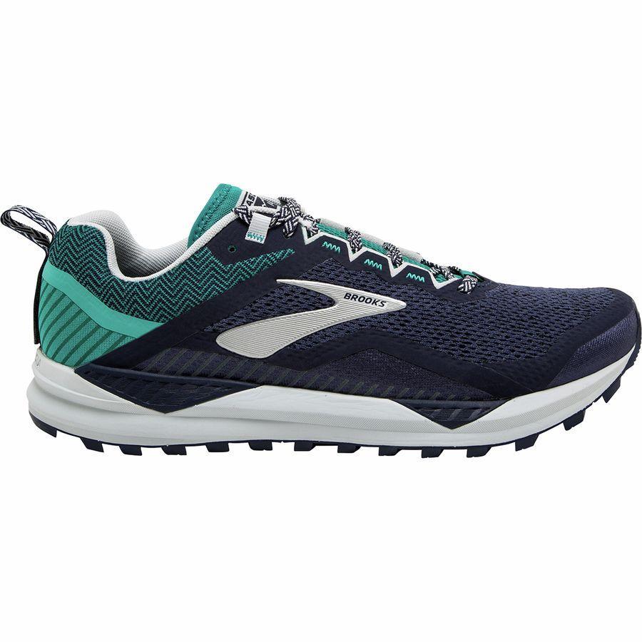 (取寄)ブルックス メンズ カスケディア 14トレイル ランニングシューズ Brooks Men's Cascadia 14 Trail Running Shoe Navy/Blue Grass/Grey