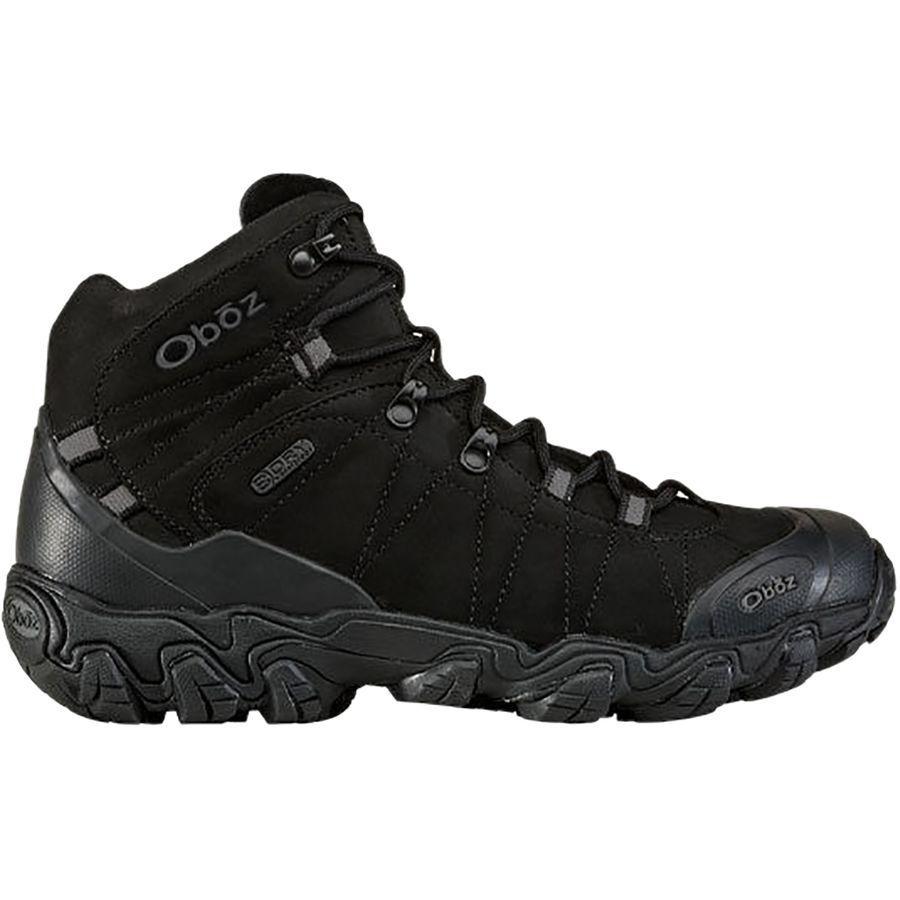 (取寄)オボズ メンズ ブリッガー ミッド B-Dry ハイキング ブーツ Oboz Men's Bridger Mid B-Dry Hiking Boot Midnight Black