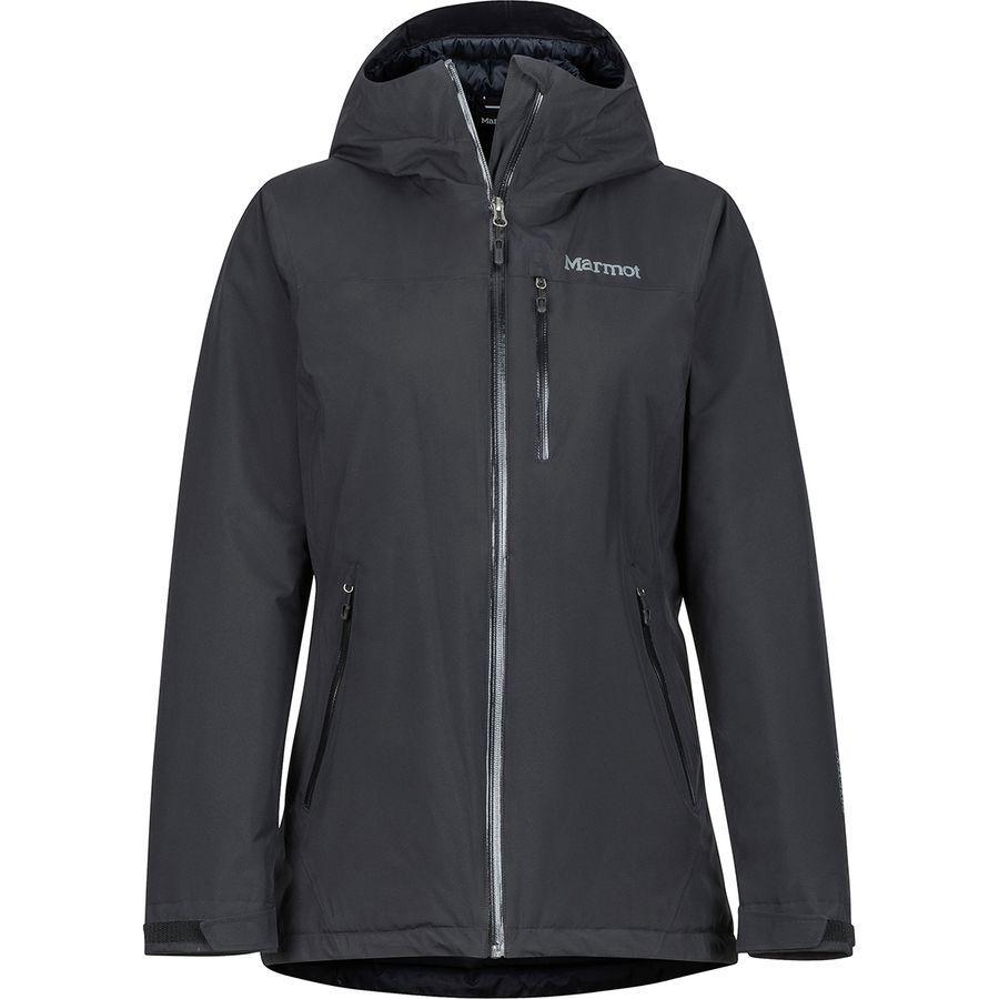 (取寄)マーモット レディース ソラリス インサレーテッド フーデッド ジャケット Marmot Women Solaris Insulated Hooded Jacket Black
