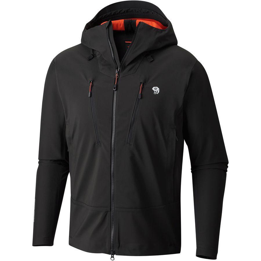 (取寄)マウンテンハードウェア メンズ トーレン フーデッド ジャケット Mountain Hardwear Men's Touren Hooded Jacket Stealth Grey