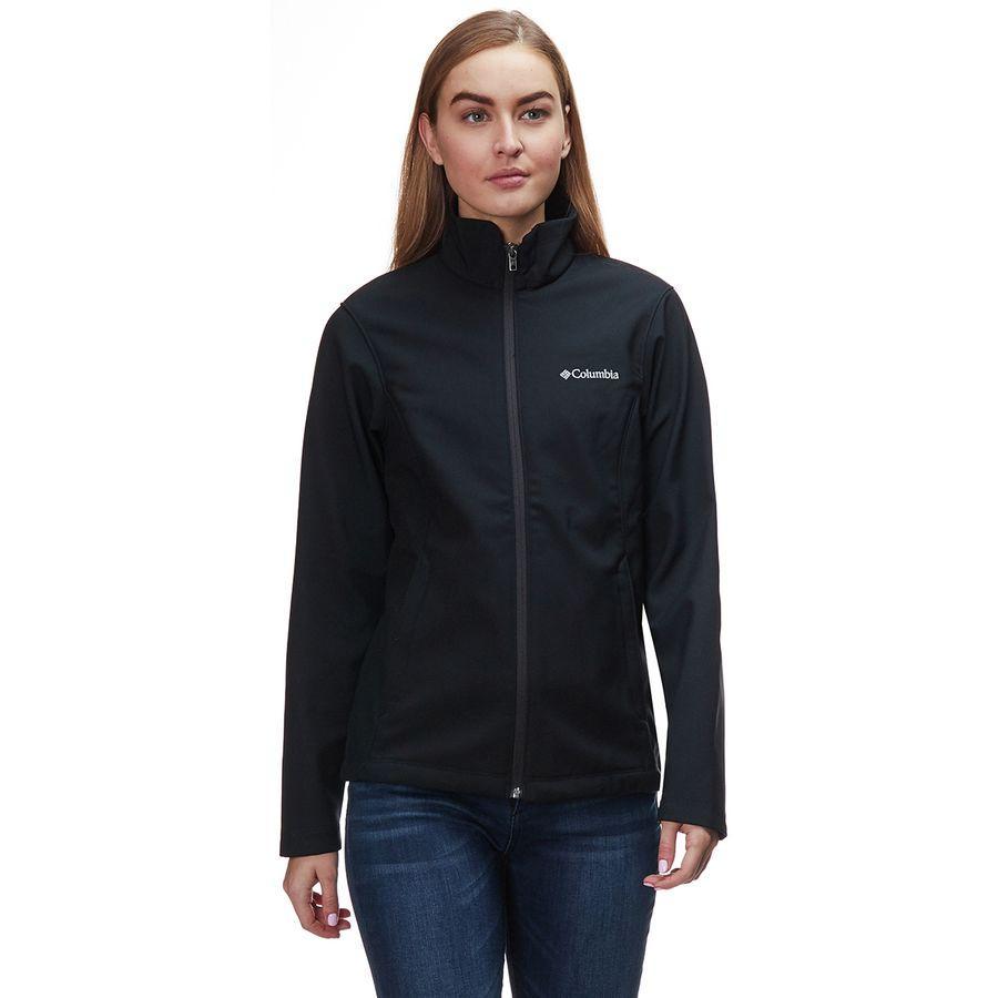 (取寄)コロンビア レディース クラウザー リッジ プラッシュ ソフトシェル ジャケット Columbia Women Kruser Ridge Plush Softshell Jacket Black