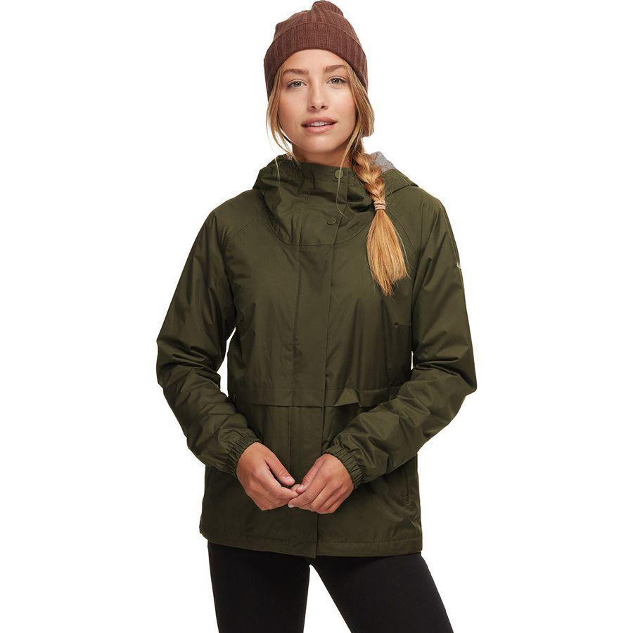 (取寄)コロンビア レディース ヘルベティア ハイツ レイン ジャケット Columbia Women Helvetia Heights Rain Jacket Olive Green