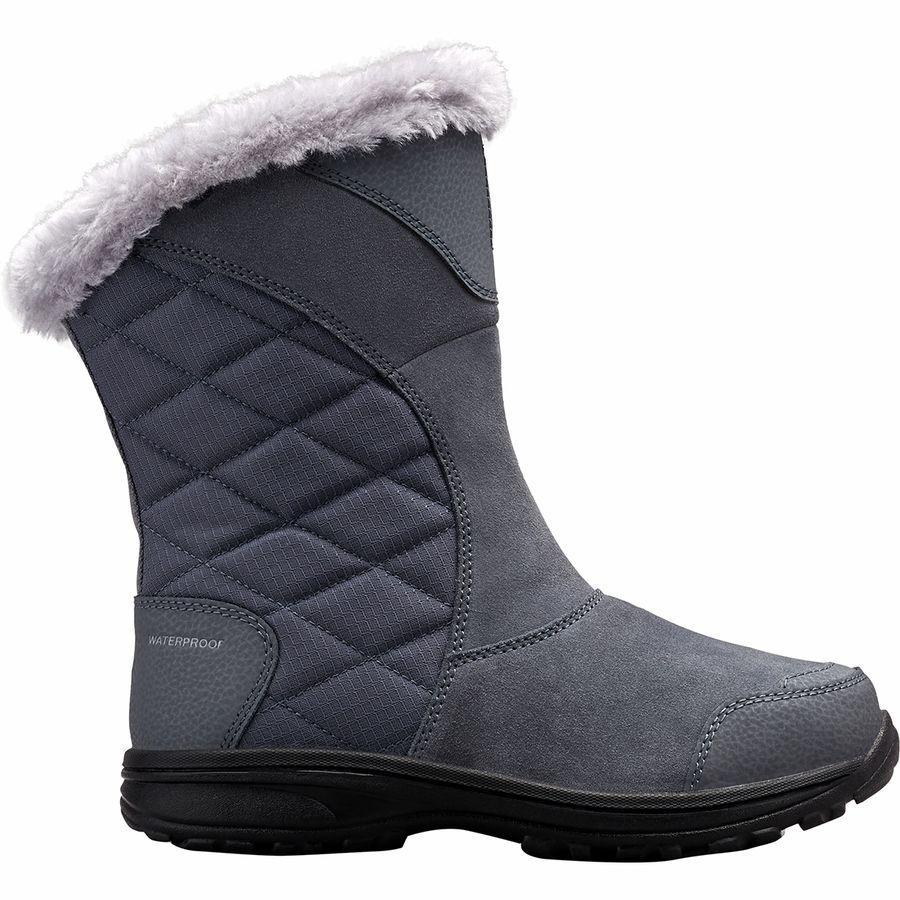 (取寄)コロンビア レディース アイス メイデン 2 スリップ オン ブーツ Columbia Women Ice Maiden II Slip On Boot Graphite/Columbia Grey