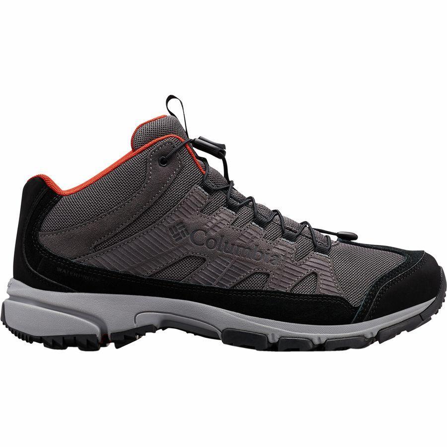 (取寄)コロンビア メンズ ファイブ フォーク ミッド WP ハイキング ブーツ Columbia Men's Five Forks Mid WP Hiking Boot Dark Grey/Flame