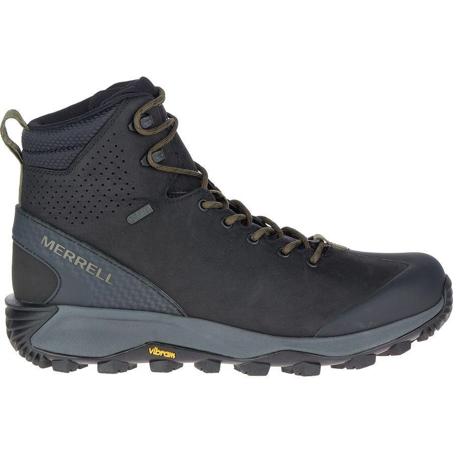 (取寄)メレル メンズ サーモ グレイシャー ミッド WP ブーツ Merrell Men's Thermo Glacier Mid WP Boot Black