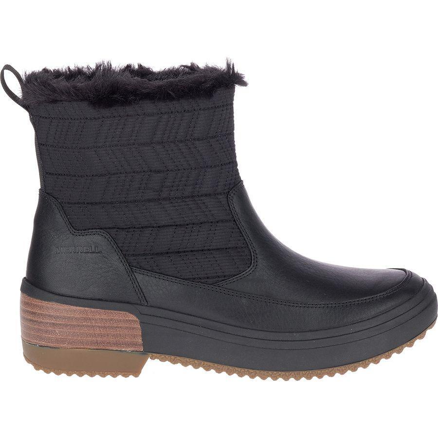 【クーポンで最大2000円OFF】(取寄)メレル レディース ヘイブン ブラフ ポーラー WP ブーツ Merrell Women Haven Bluff Polar WP Boot Black