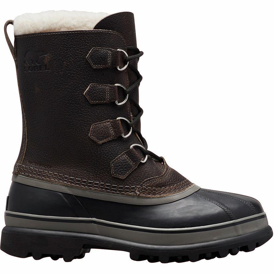 (取寄)ソレル メンズ カリブー ウール ブーツ Sorel Men's Caribou Wool Boot Quarry/Black