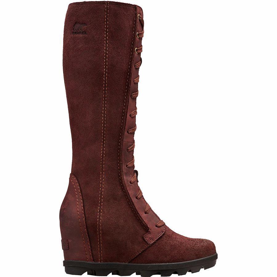 (取寄)ソレル レディース ジョアン オブ アークティック ウェッジ 2 トール ブーツ Sorel Women Joan Of Arctic Wedge II Tall Boot Cattail
