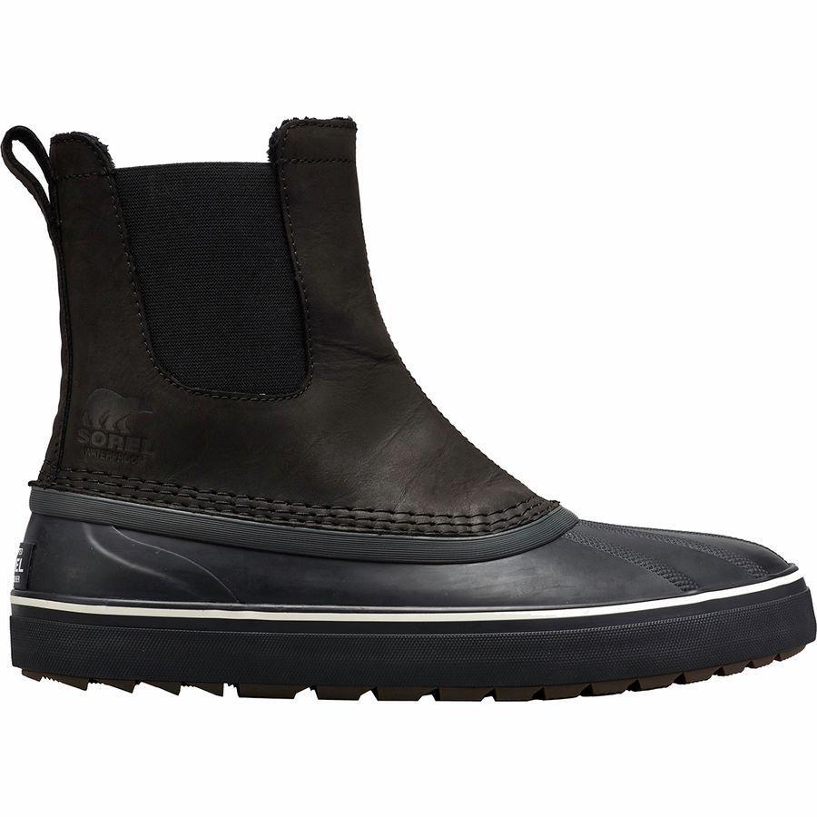 (取寄)ソレル メンズ シャイアン メトロ チェルシー WP ブーツ Sorel Men's Cheyanne Metro Chelsea WP Boot Black/Black