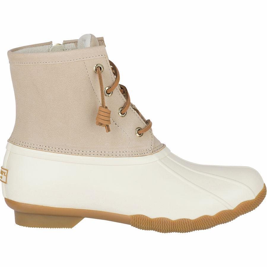 (取寄)スペリートップサイダー レディース Saltwater ブーツ Sperry Top-Sider Women Saltwater Boot Ivory
