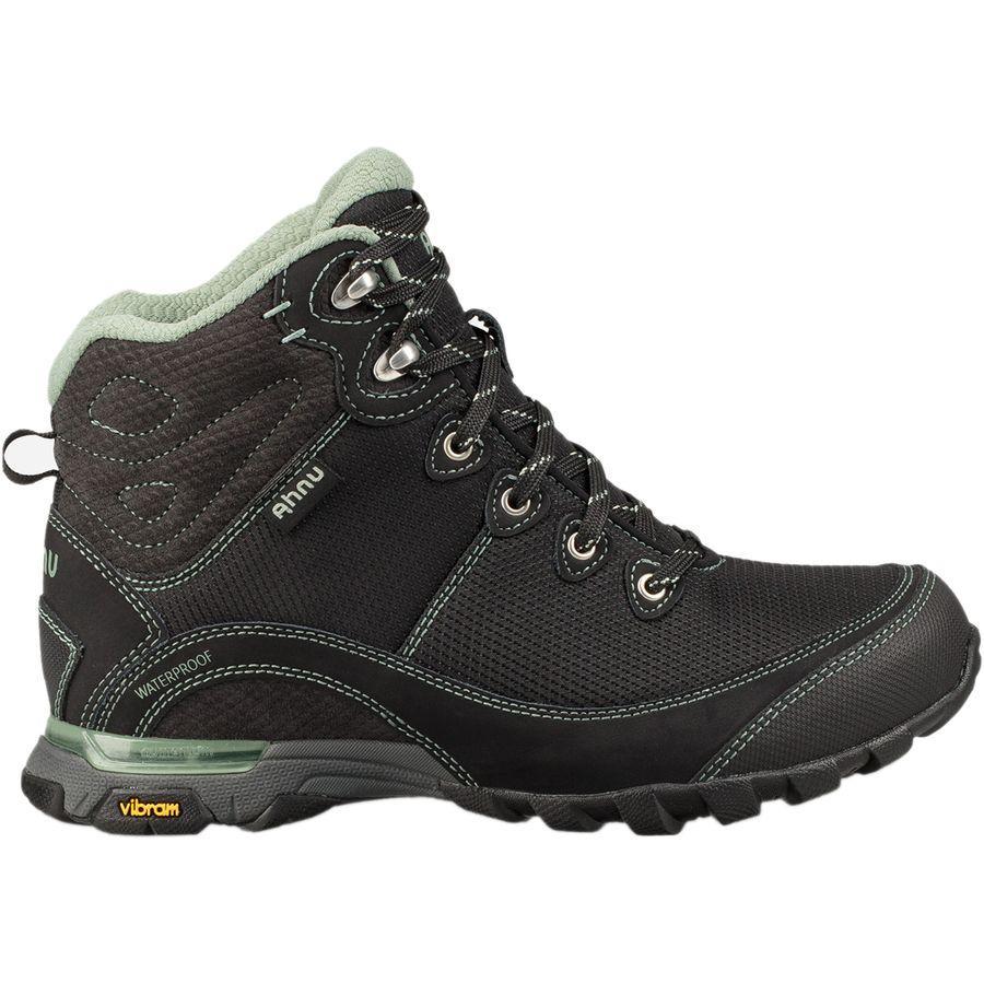 (取寄)テバ レディース X アニュ シュガーパイン 2 WP リップストップ ハイキング ブーツ Teva Women x Ahnu Sugarpine II WP Ripstop Hiking Boot Black/Green Bay