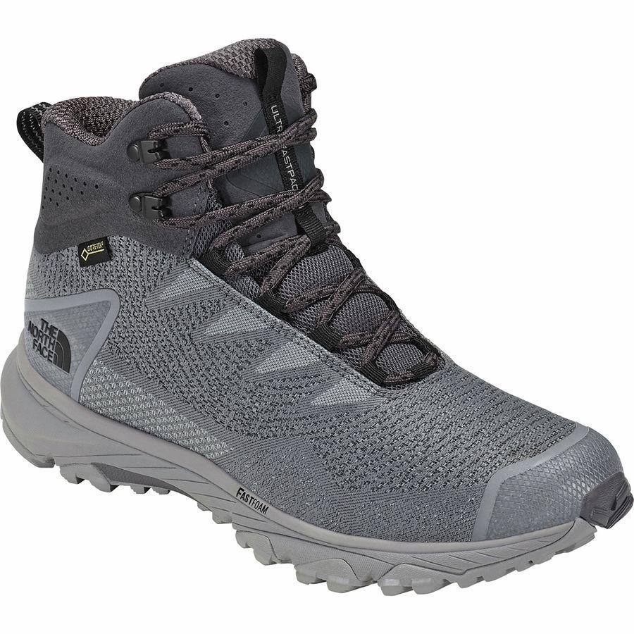 (取寄)ノースフェイス メンズ ウルトラ ファストパック 3 ミッド Gtx ウーヴン ハイキング ブーツ The North Face Men's Ultra Fastpack III Mid GTX Woven Hiking Boot Blackened Pearl/Meld Grey