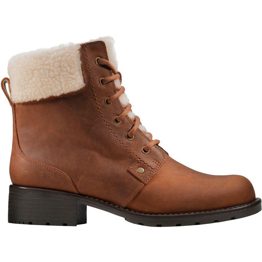 (取寄)クラークス レディース オリノコ ダスク ブーツ Clarks Women Orinoco Dusk Boot Tan Warm Lined Leather