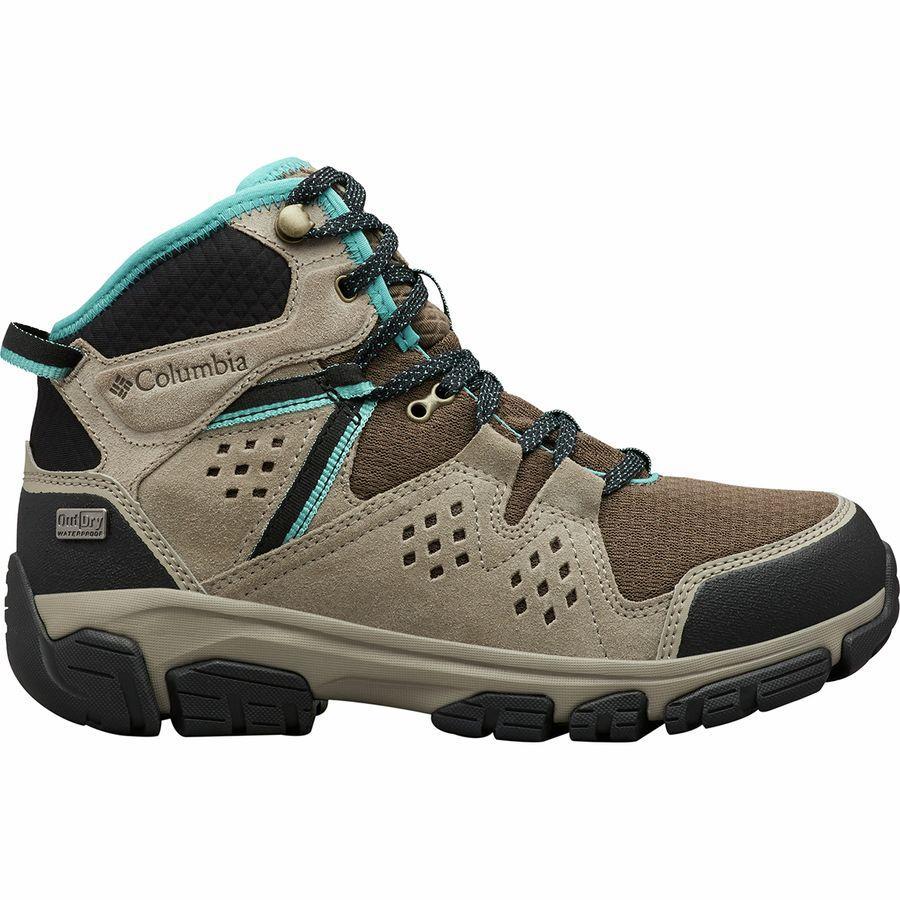 (取寄)コロンビア レディース Isoterra アウトドライ ミッド ハイキング ブーツ Columbia Women Isoterra Outdry Mid Hiking Boot Mud/Teal